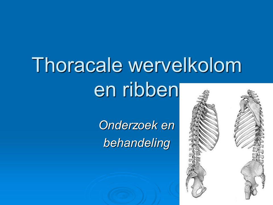Thoracale wervelkolom en ribben
