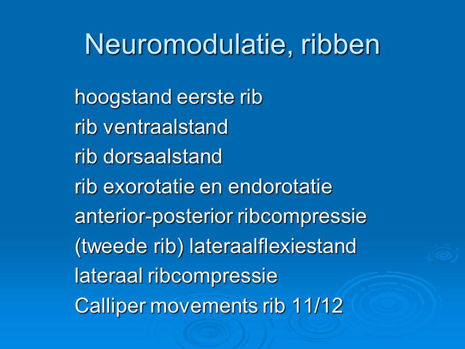 Neuromodulatie, ribben