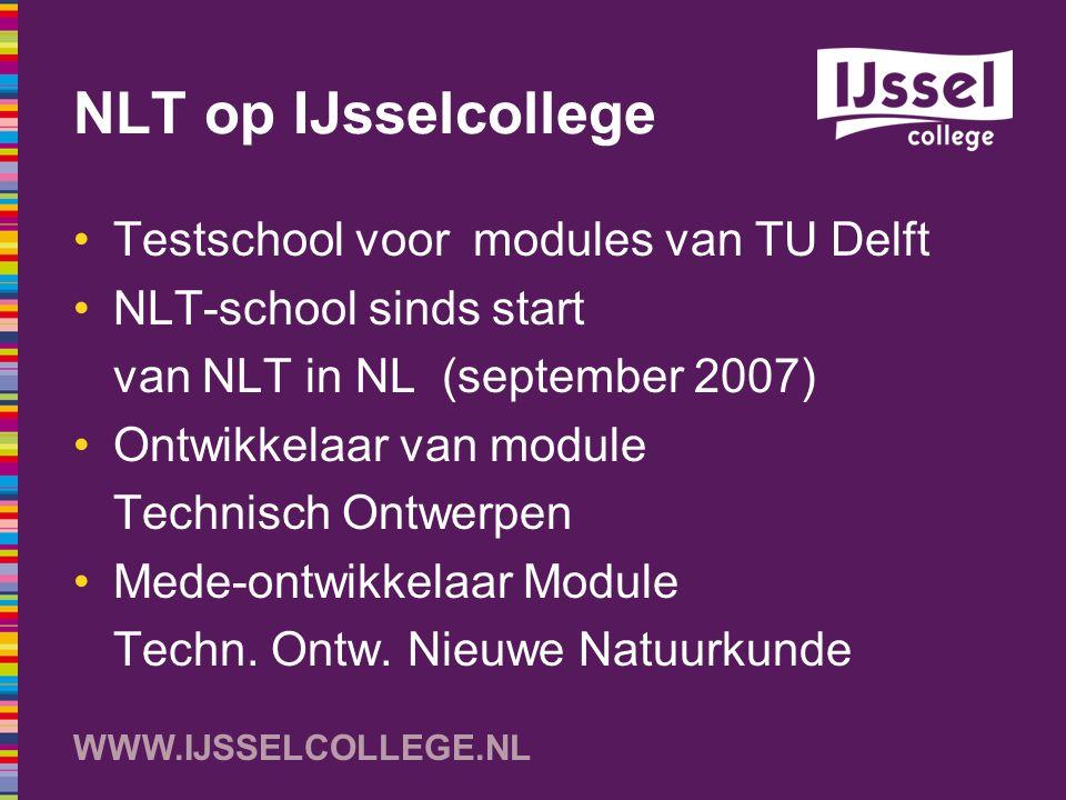 NLT op IJsselcollege Testschool voor modules van TU Delft