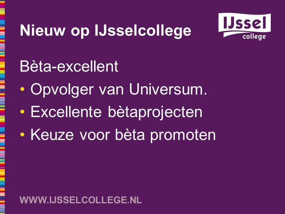 Nieuw op IJsselcollege