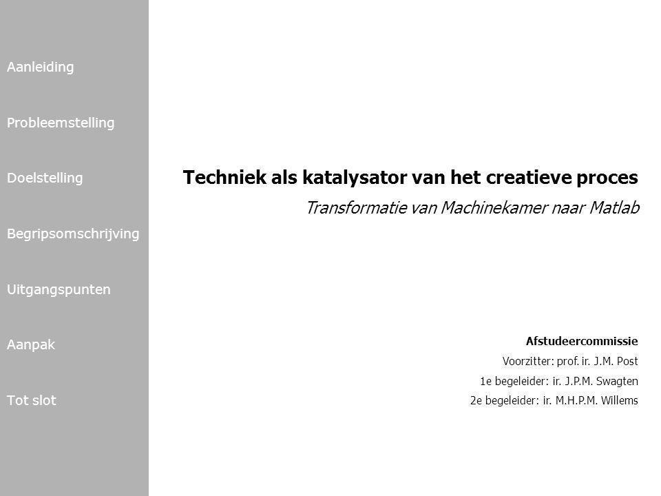 Techniek als katalysator van het creatieve proces
