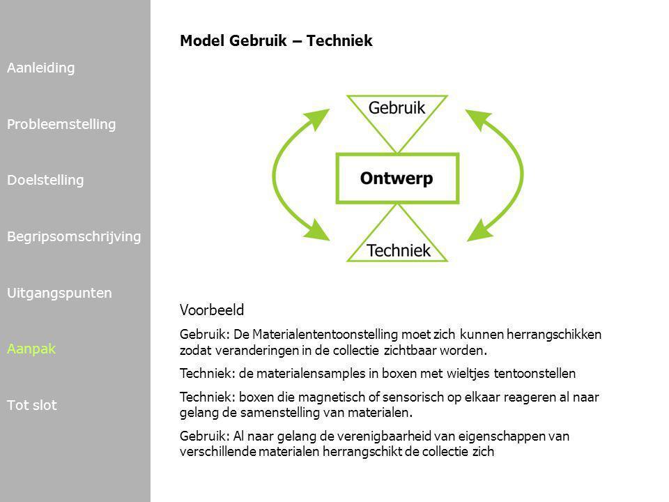 Model Gebruik – Techniek