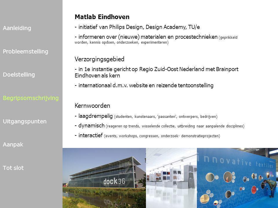 Matlab Eindhoven Verzorgingsgebied Kernwoorden Aanleiding