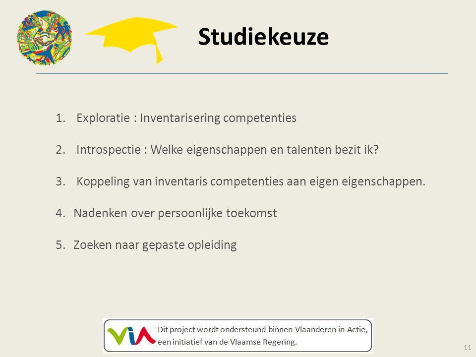 Studiekeuze Exploratie : Inventarisering competenties