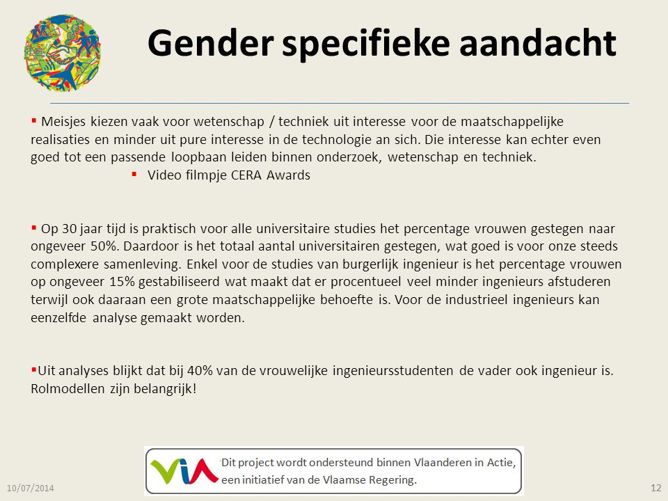 Gender specifieke aandacht