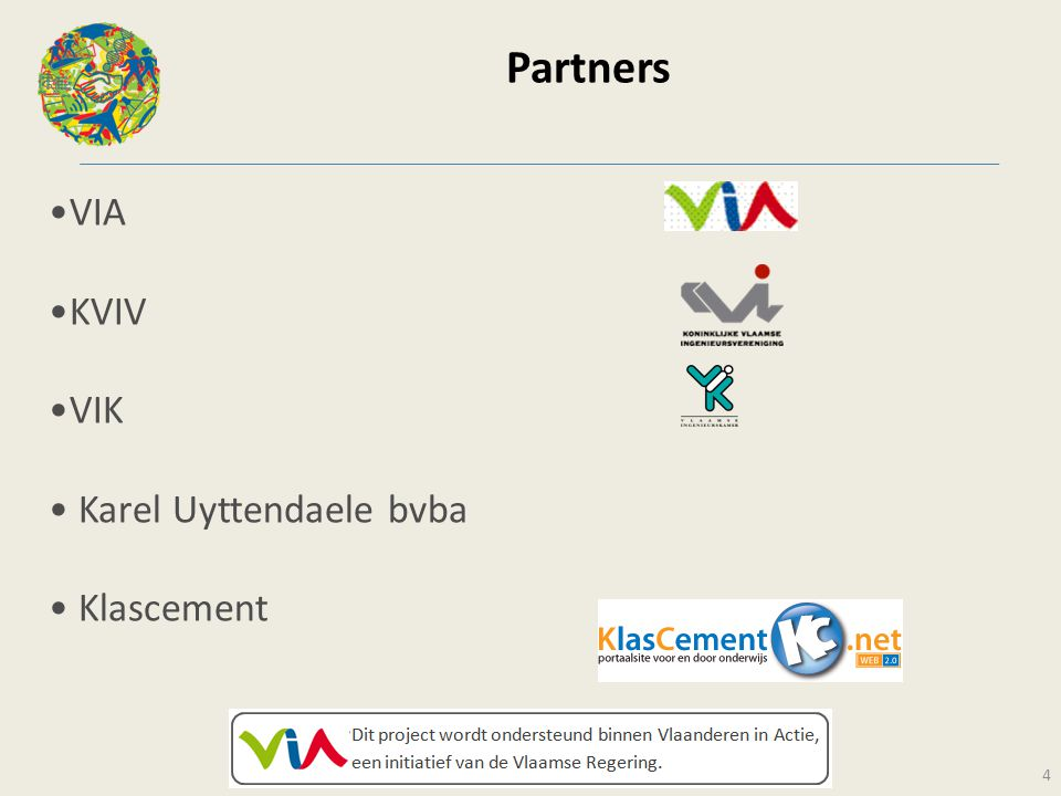 Partners VIA KVIV VIK Karel Uyttendaele bvba Klascement