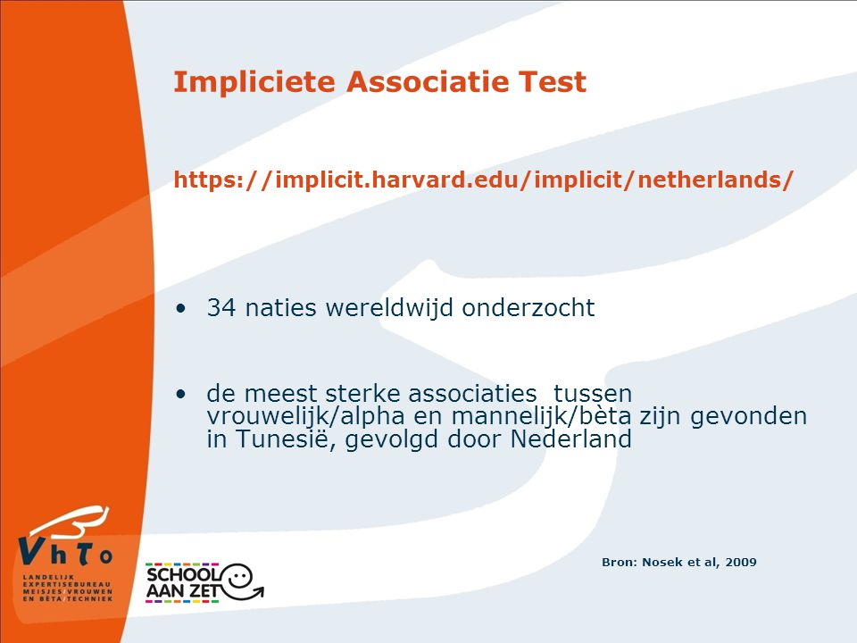 Impliciete Associatie Test https://implicit. harvard