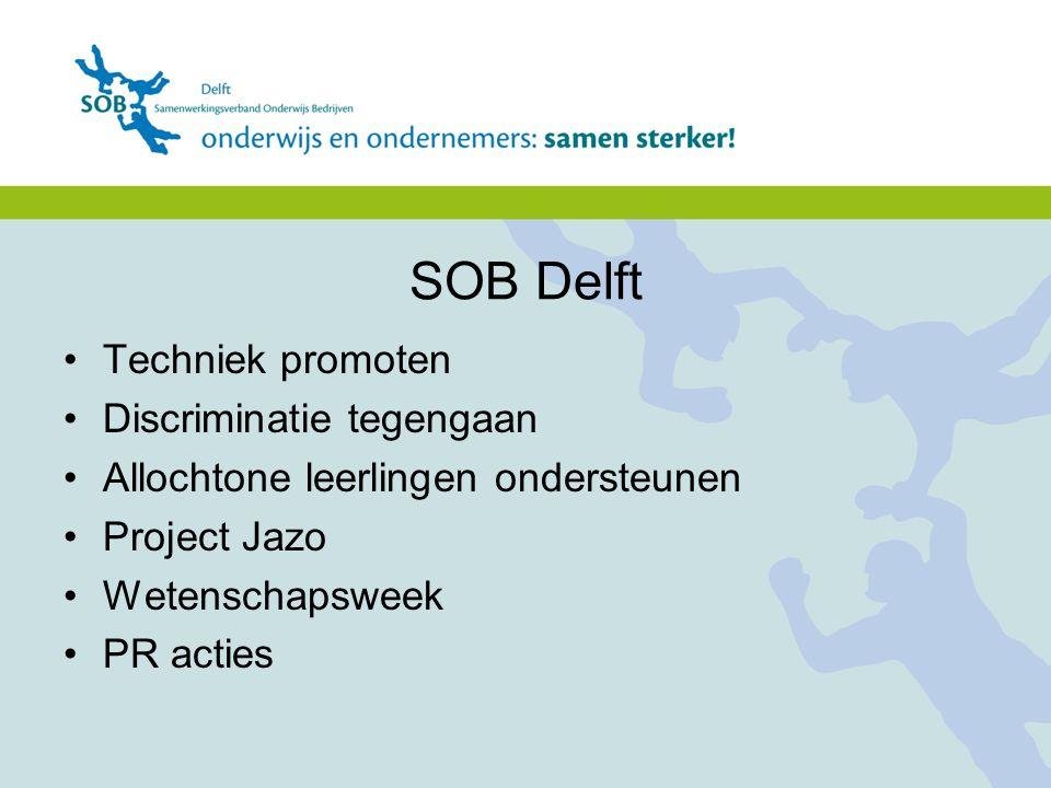 SOB Delft Techniek promoten Discriminatie tegengaan
