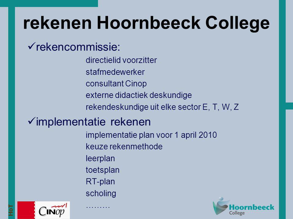 rekenen Hoornbeeck College
