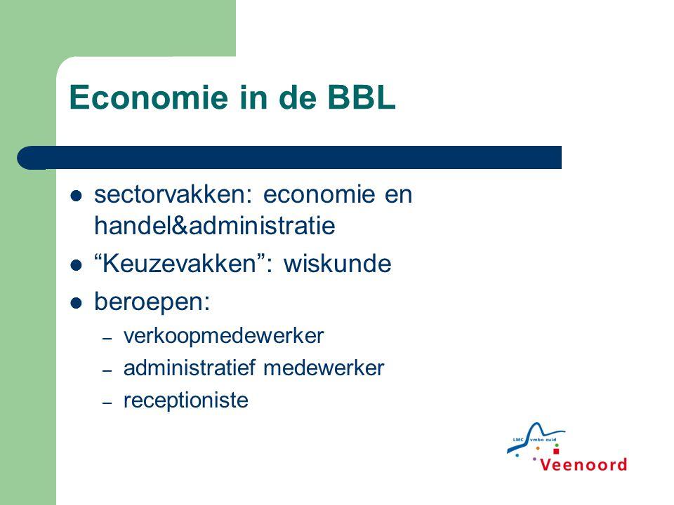 Economie in de BBL sectorvakken: economie en handel&administratie