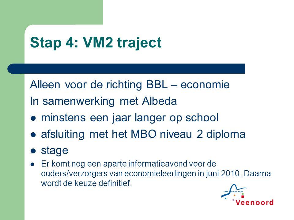 Stap 4: VM2 traject Alleen voor de richting BBL – economie