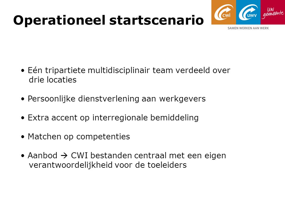 Operationeel startscenario