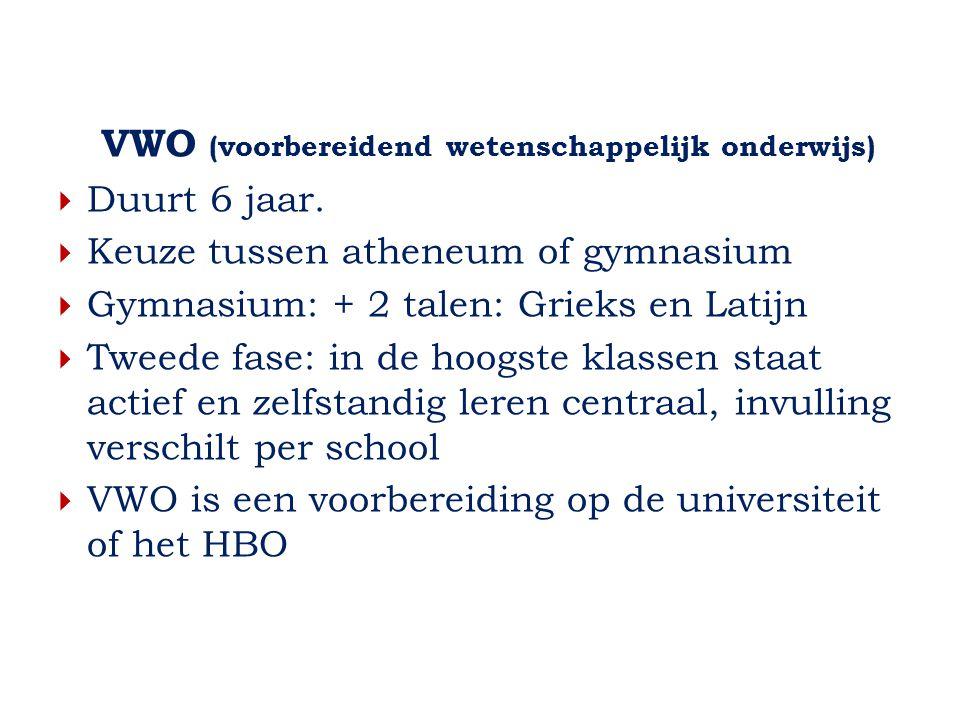 VWO (voorbereidend wetenschappelijk onderwijs)