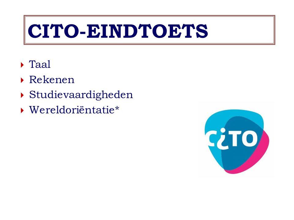 CITO-EINDTOETS Taal Rekenen Studievaardigheden Wereldoriëntatie*