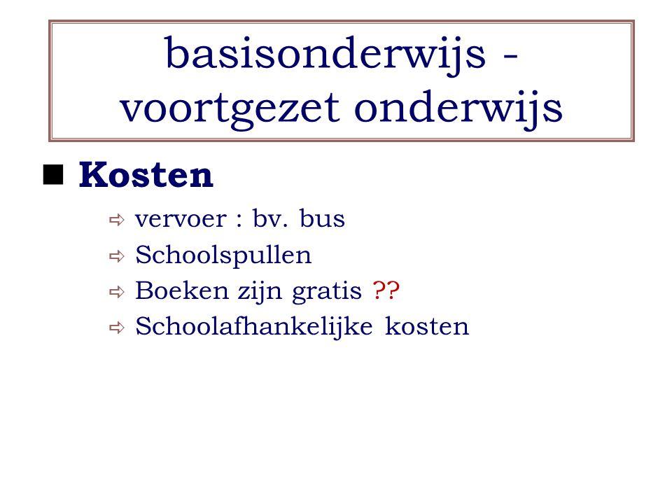 basisonderwijs - voortgezet onderwijs