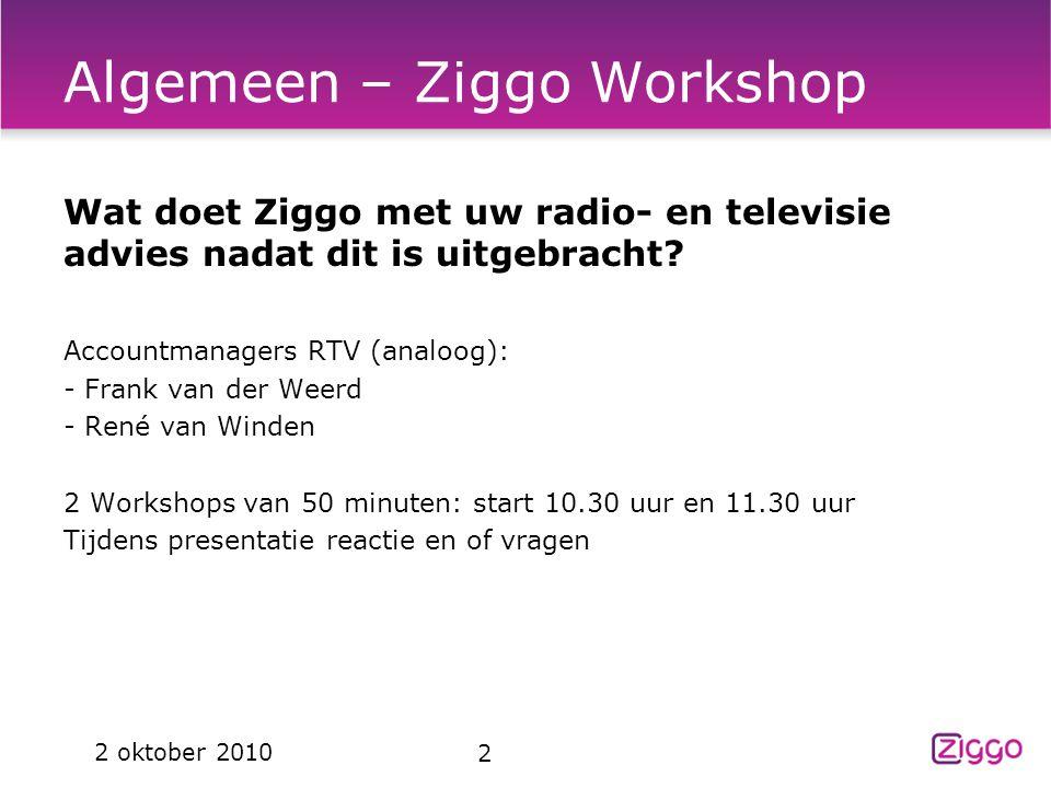 Algemeen – Ziggo Workshop