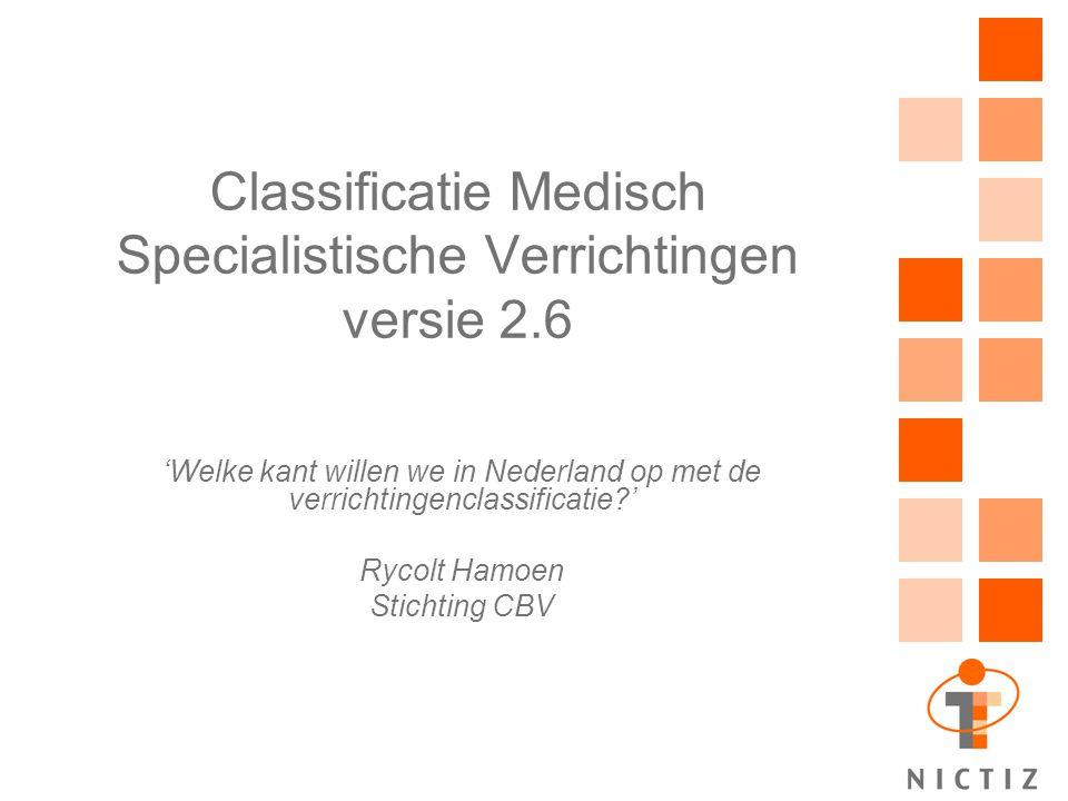 Classificatie Medisch Specialistische Verrichtingen versie 2.6