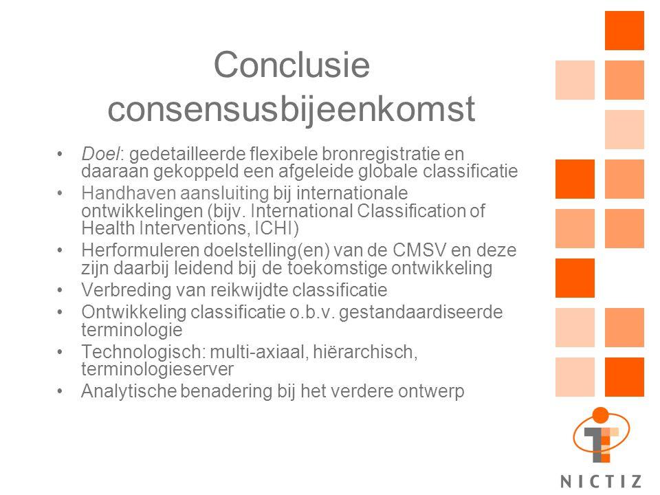Conclusie consensusbijeenkomst