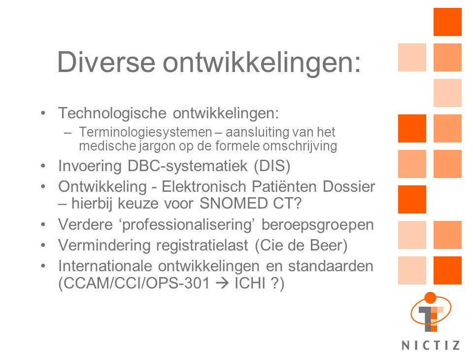 Diverse ontwikkelingen: