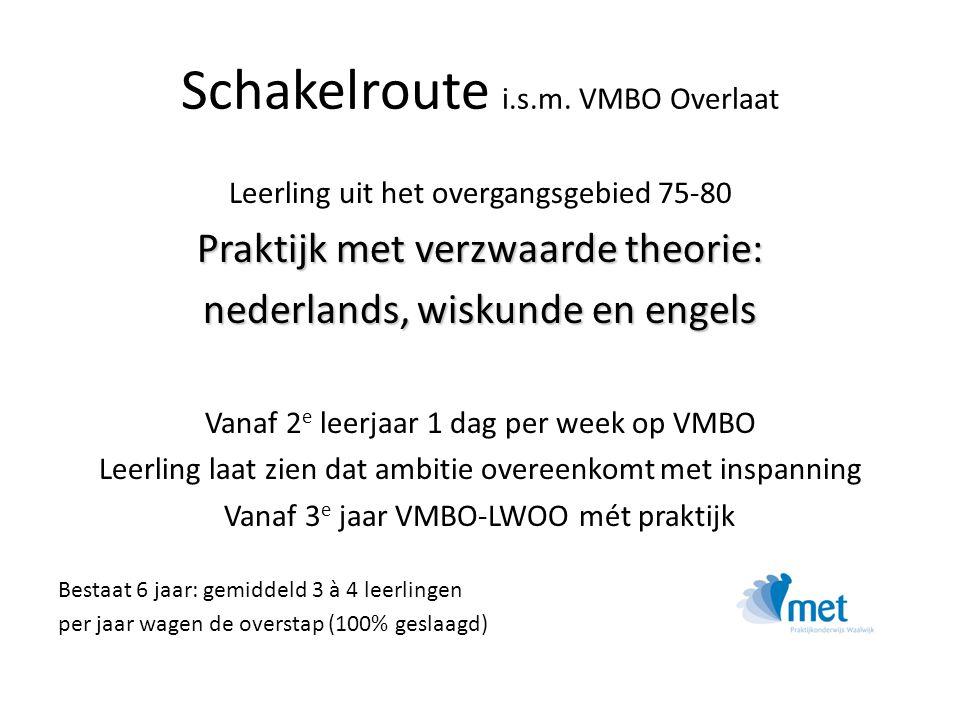 Schakelroute i.s.m. VMBO Overlaat