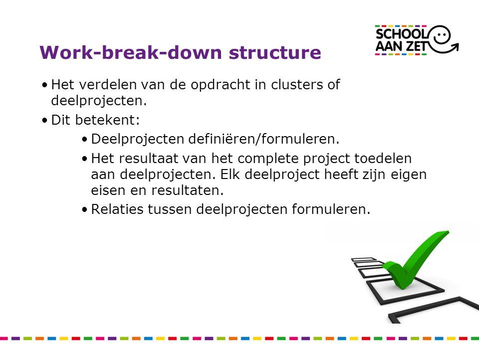 Work-break-down structure