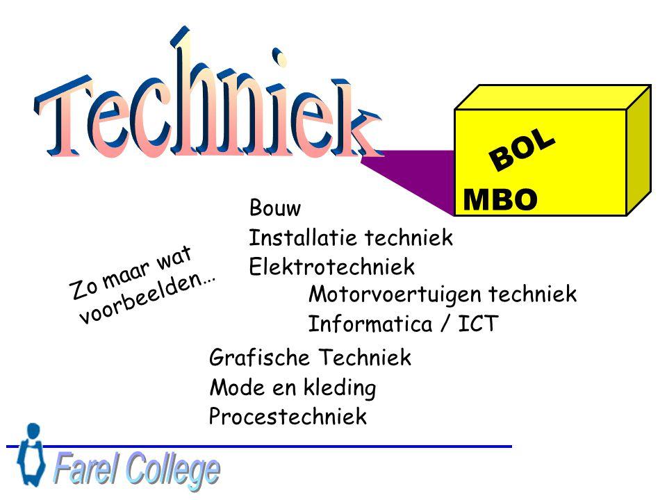 Techniek Farel College BOL MBO Bouw Installatie techniek