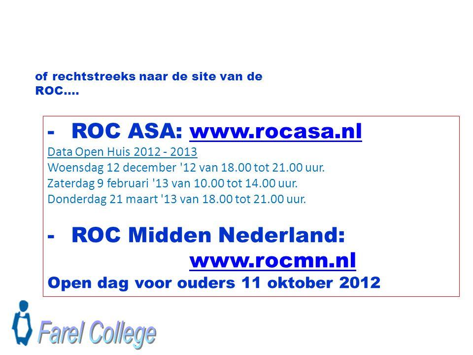 Farel College ROC ASA: www.rocasa.nl