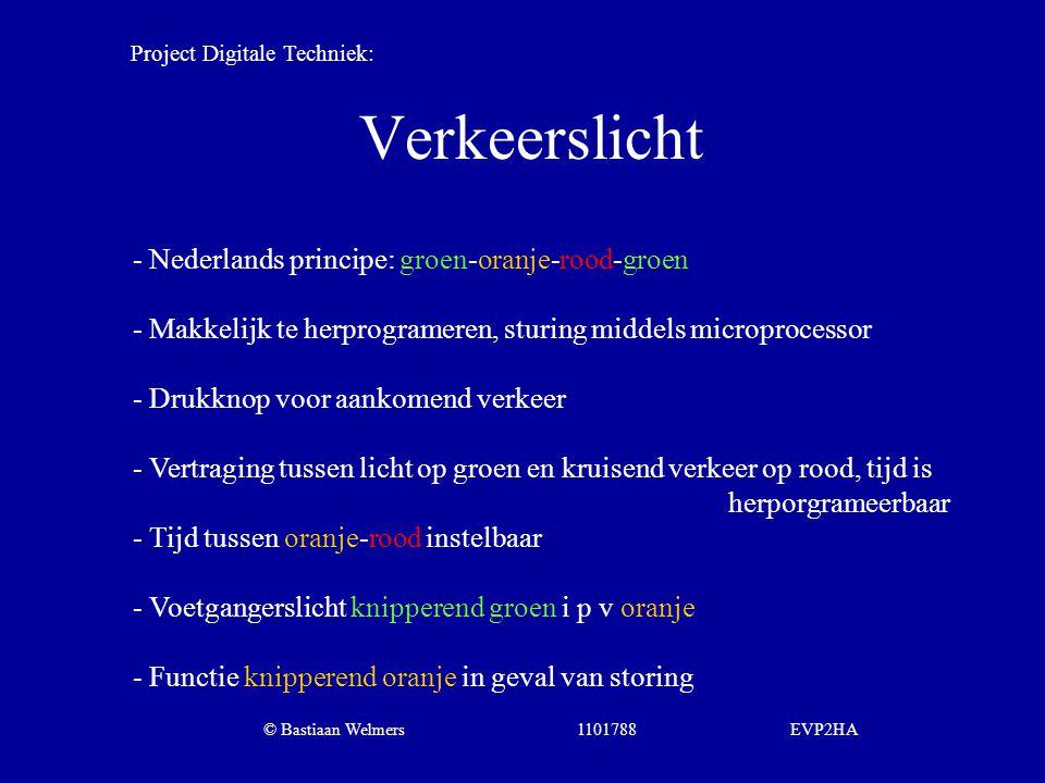 Verkeerslicht - Nederlands principe: groen-oranje-rood-groen