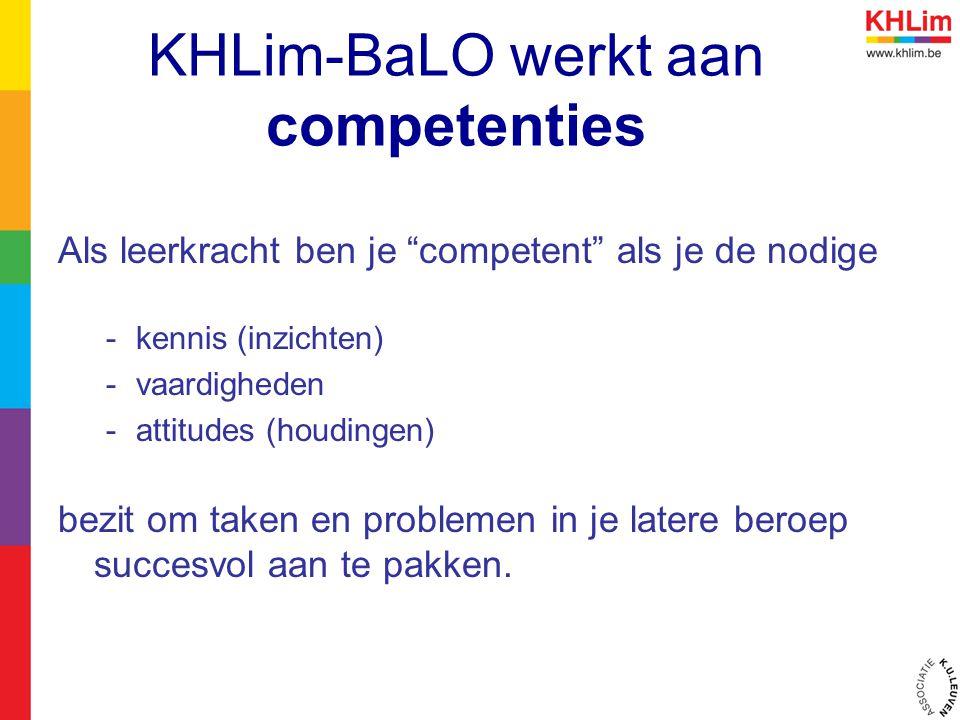 KHLim-BaLO werkt aan competenties