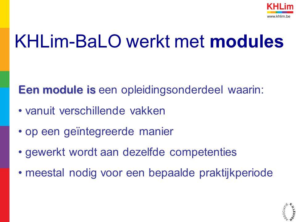 KHLim-BaLO werkt met modules