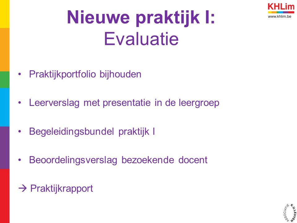 Nieuwe praktijk I: Evaluatie