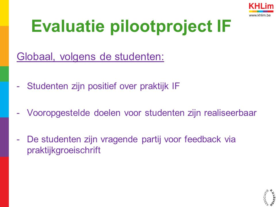 Evaluatie pilootproject IF
