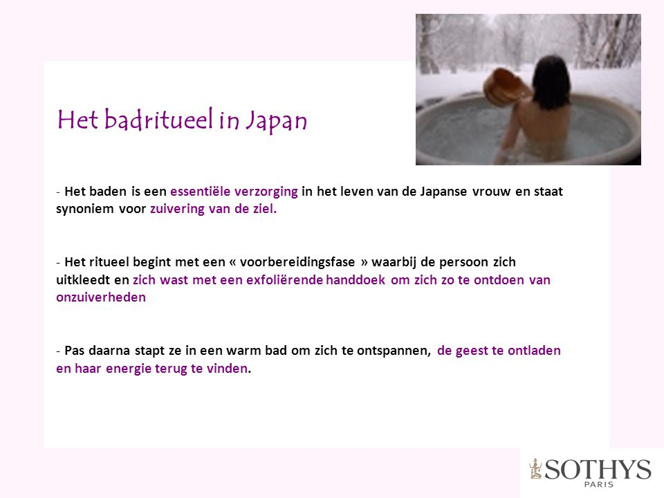 Het badritueel in Japan