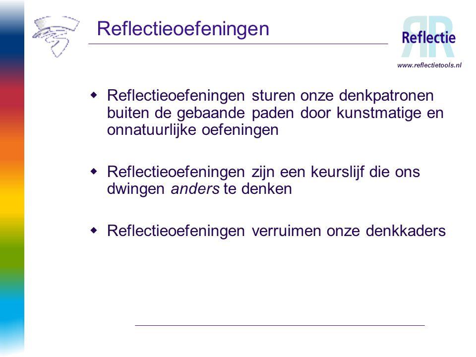 Reflectieoefeningen www.reflectietools.nl.