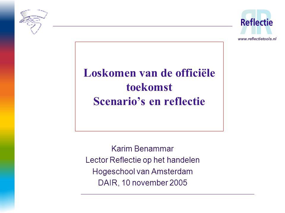 Loskomen van de officiële toekomst Scenario's en reflectie