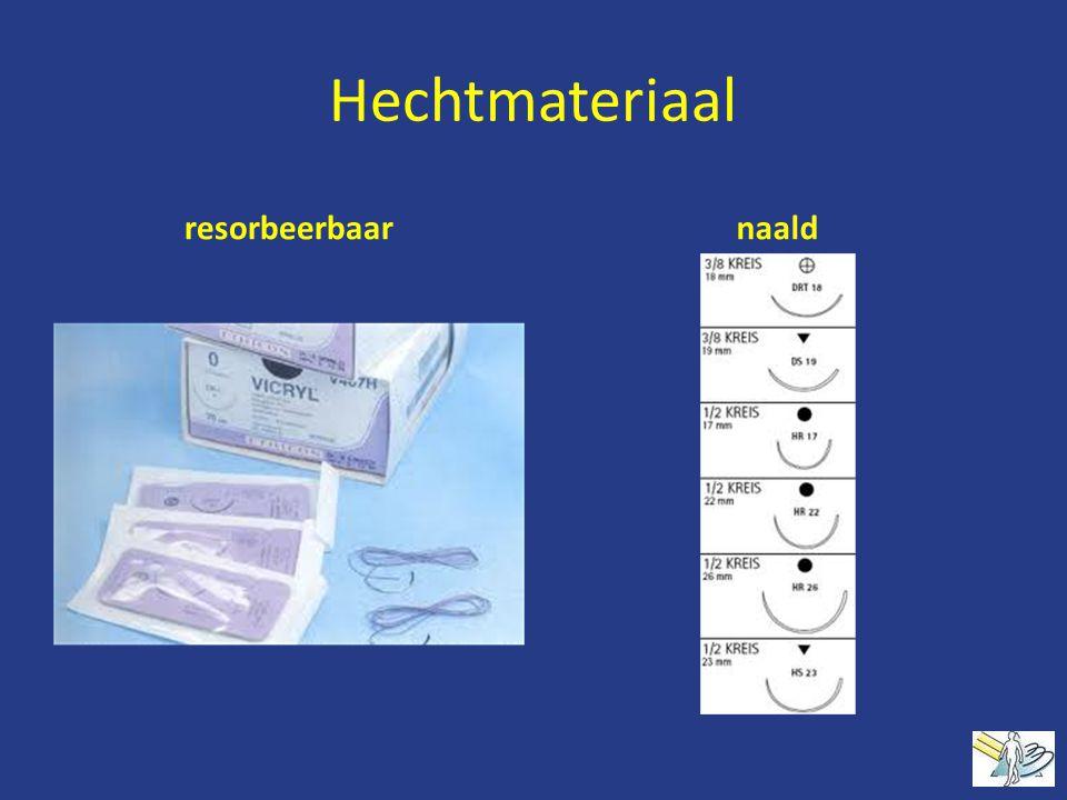 Hechtmateriaal resorbeerbaar naald