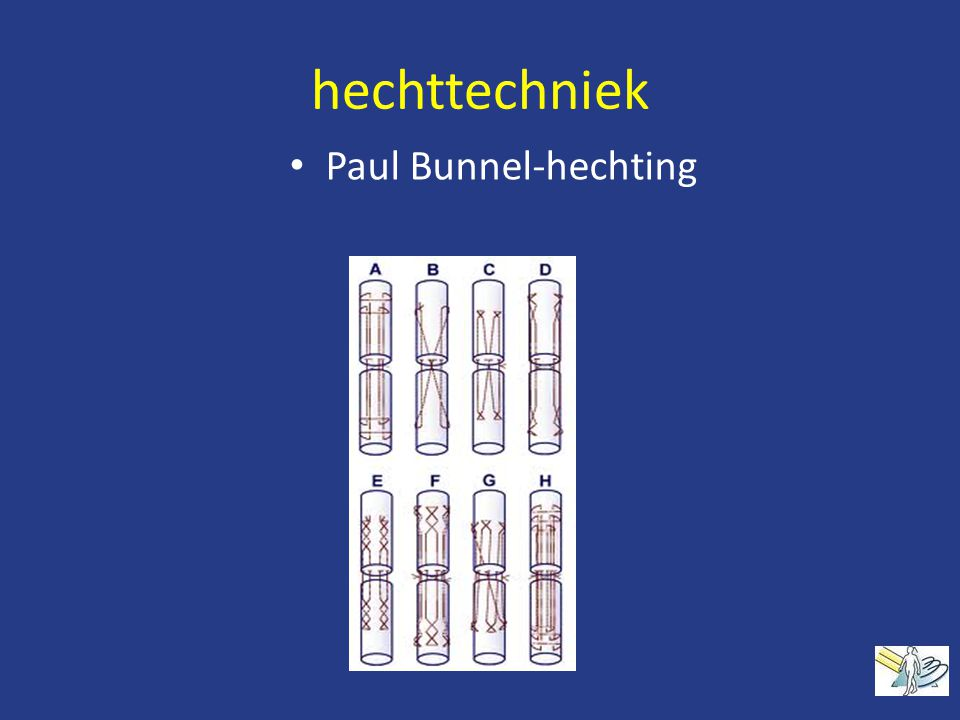 hechttechniek Paul Bunnel-hechting