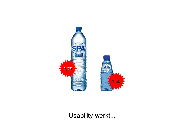 0,75 1,50 Usability werkt...