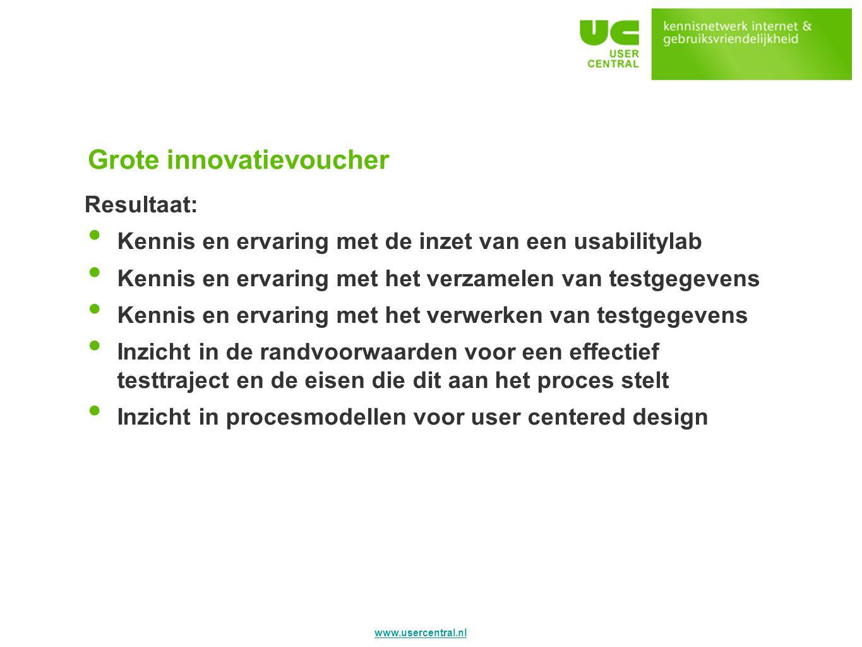 Grote innovatievoucher