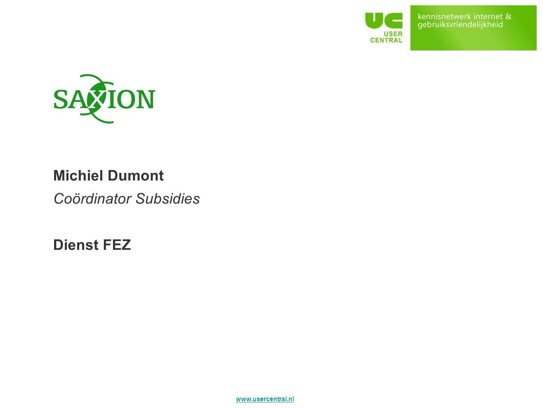Saxion Michiel Dumont Coördinator Subsidies Dienst FEZ