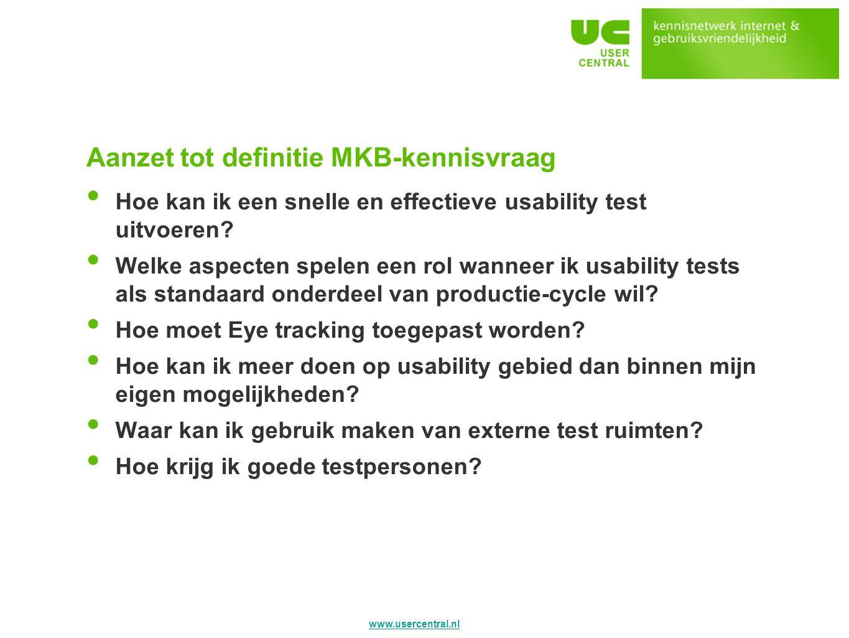 Aanzet tot definitie MKB-kennisvraag