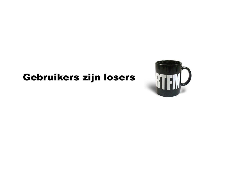 Gebruikers zijn losers