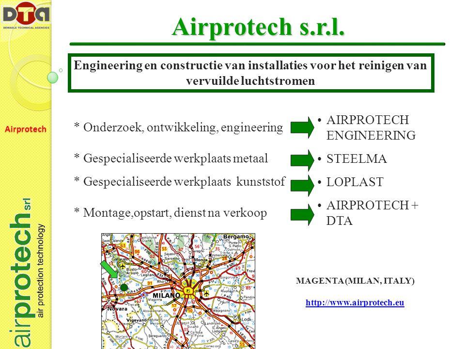 Airprotech s.r.l. Engineering en constructie van installaties voor het reinigen van vervuilde luchtstromen.