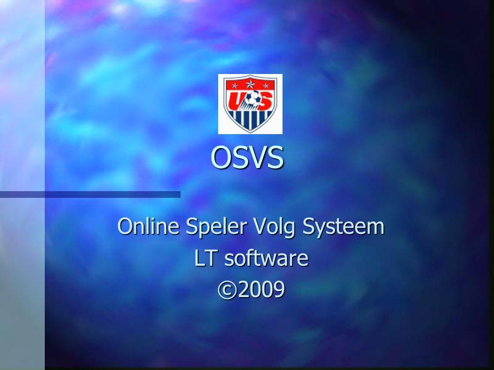 Online Speler Volg Systeem LT software ©2009
