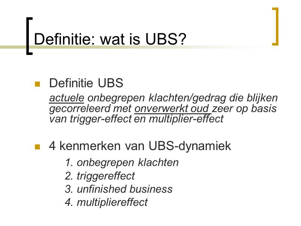 Definitie: wat is UBS 1. onbegrepen klachten Definitie UBS