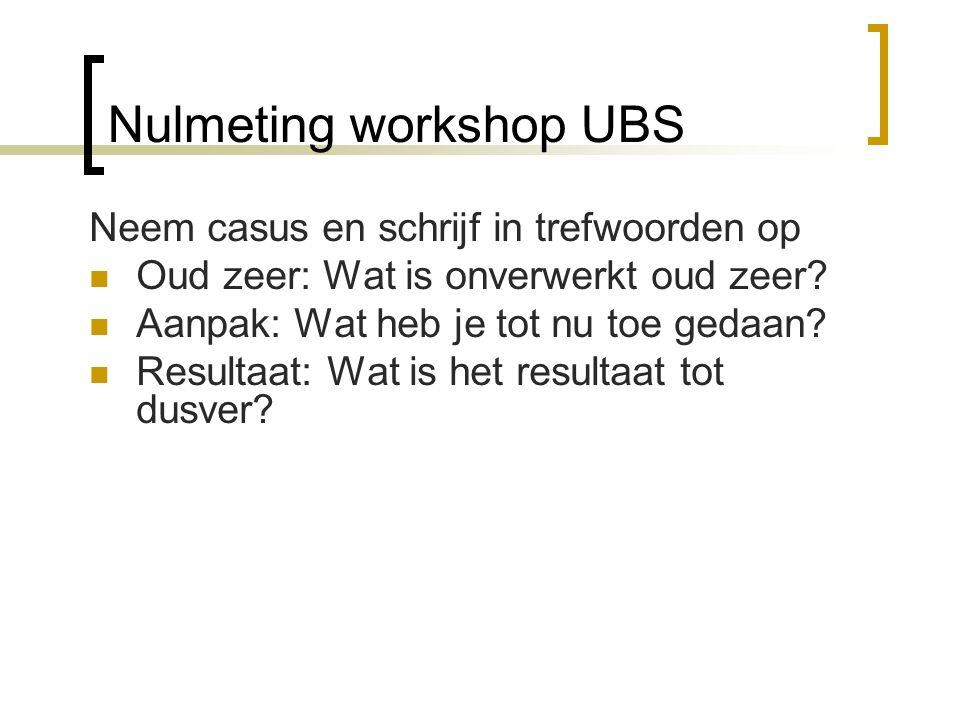 Nulmeting workshop UBS