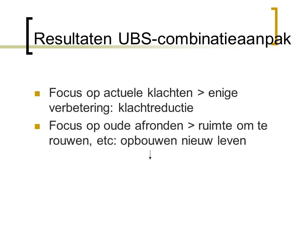 Resultaten UBS-combinatieaanpak