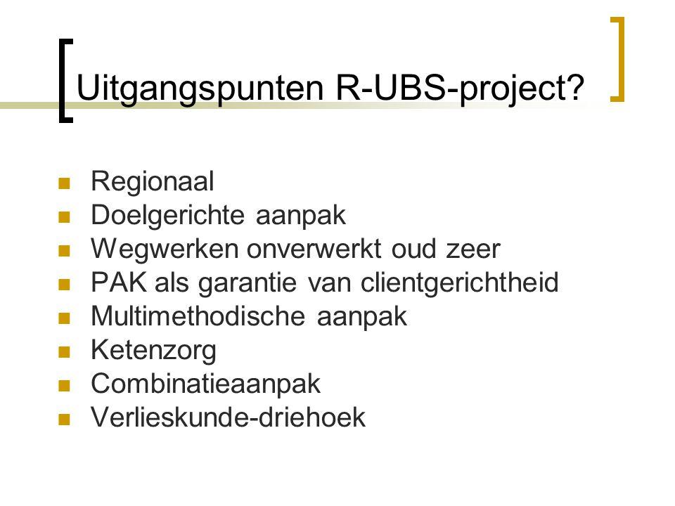 Uitgangspunten R-UBS-project