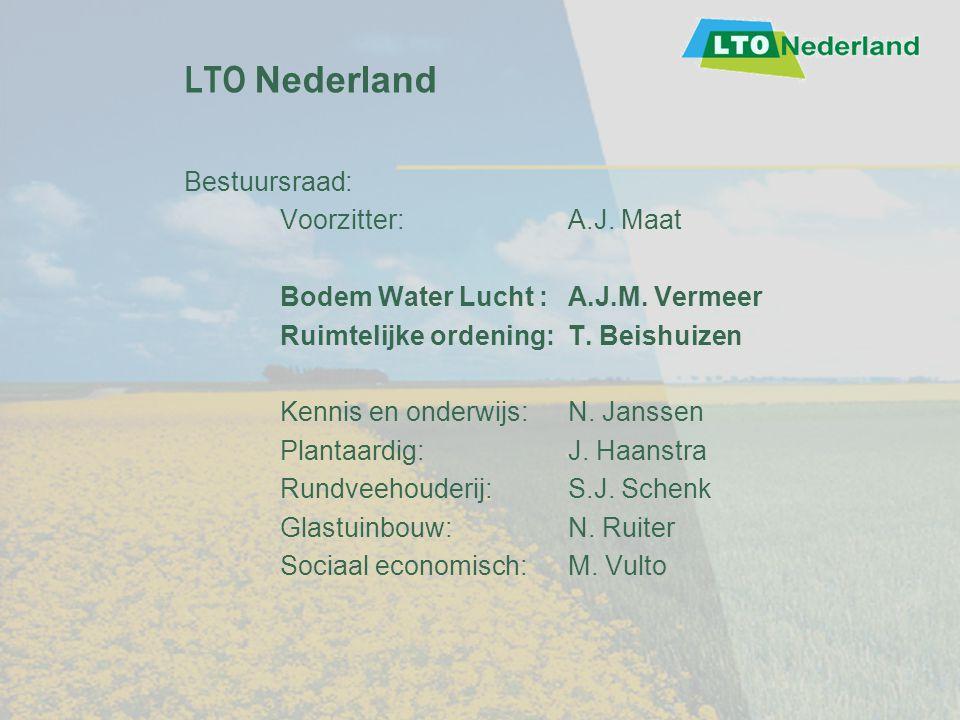 LTO Nederland Bestuursraad: Voorzitter: A.J. Maat