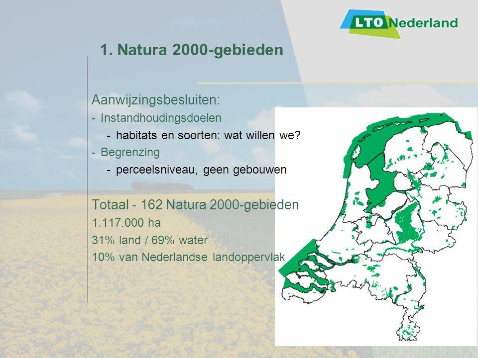 1. Natura 2000-gebieden Aanwijzingsbesluiten: